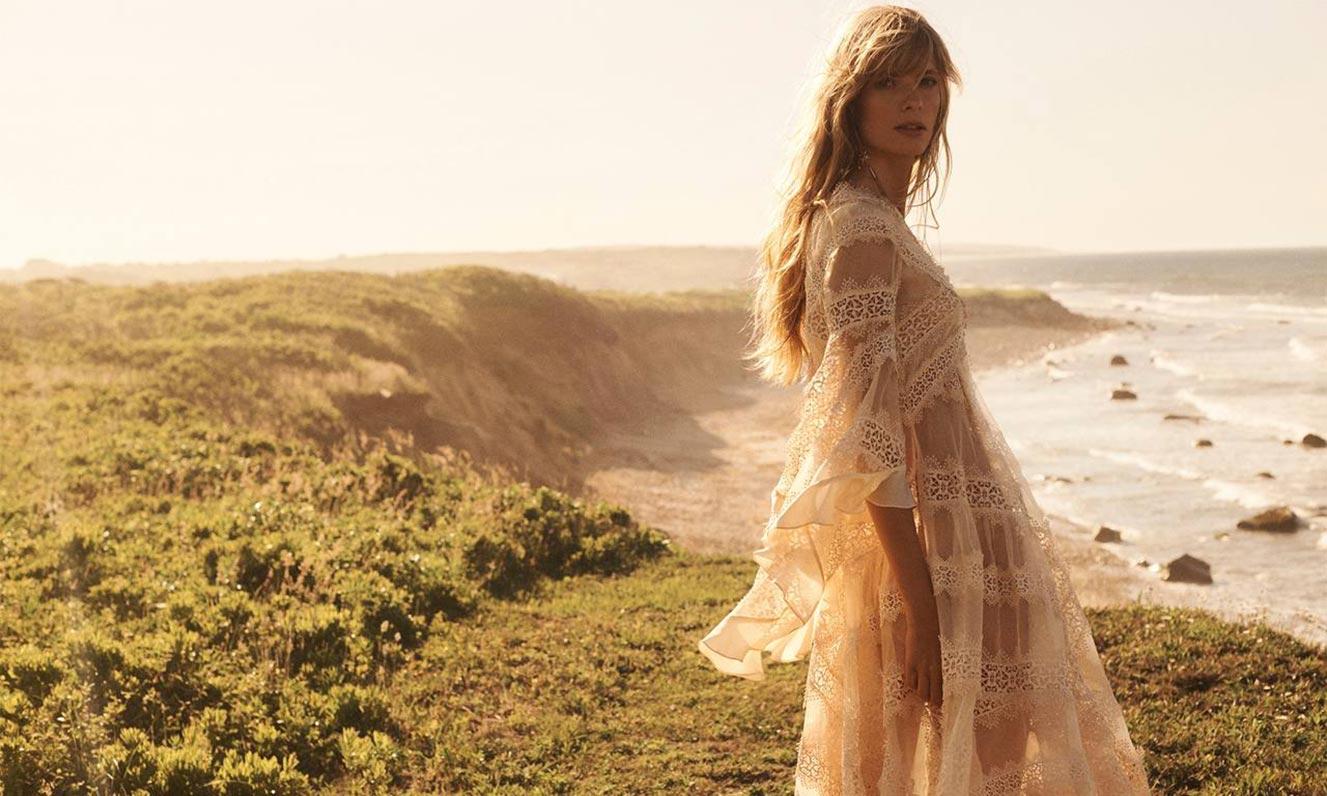 Джулиа Стегнер в одежде из модной коллекции Zimmermann, сезон осень-зима 2020-2021 / фото 11