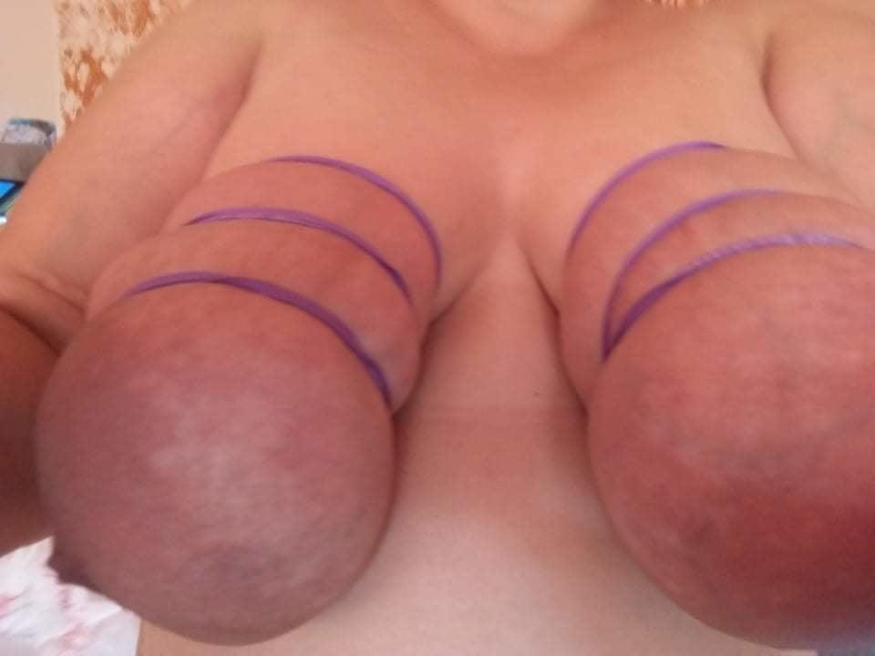 Self breast bondage-4141