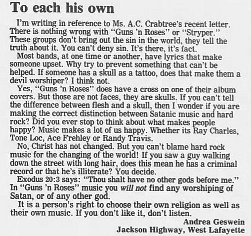 1989.02.21/04.10 - Journal and Courier (Lafayette, IN.) - Readers' letters/Debate on GN'R DveSEz88_o