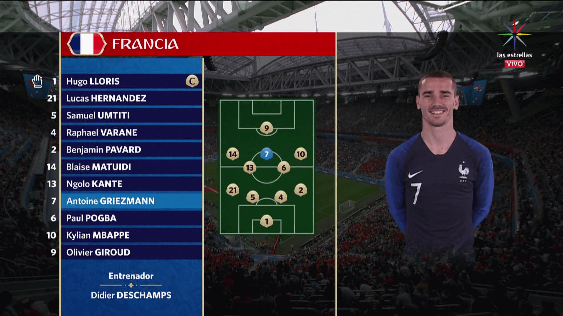 Francia vs Bélgica semifinales