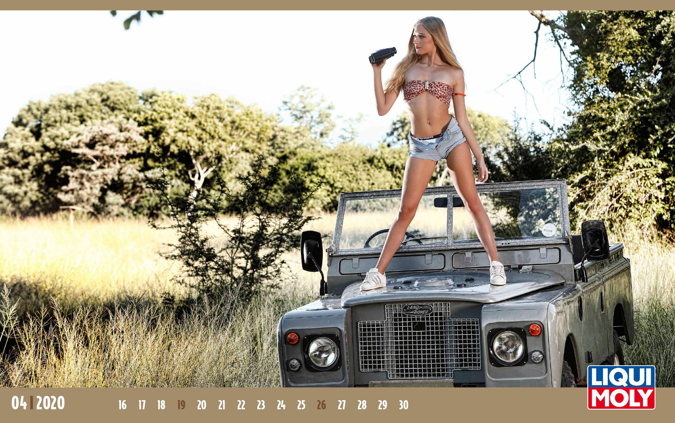 Календарь с девушками автоконцерна Liqui Moly, 2020 год / апрель-2