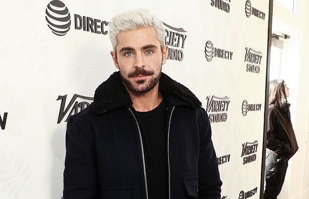 Zac Efron Debuts Brand New Platinum Blonde Hair At Sundance Oh No