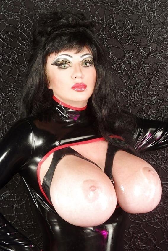Latex big tits pics-7754