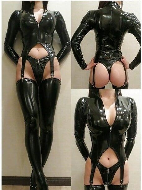 Sexy asian latex-1790