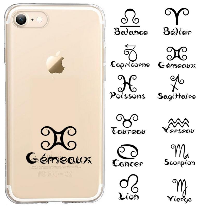 Coque Iphone 7 8 SE 2020 signe astrologique personnalisee