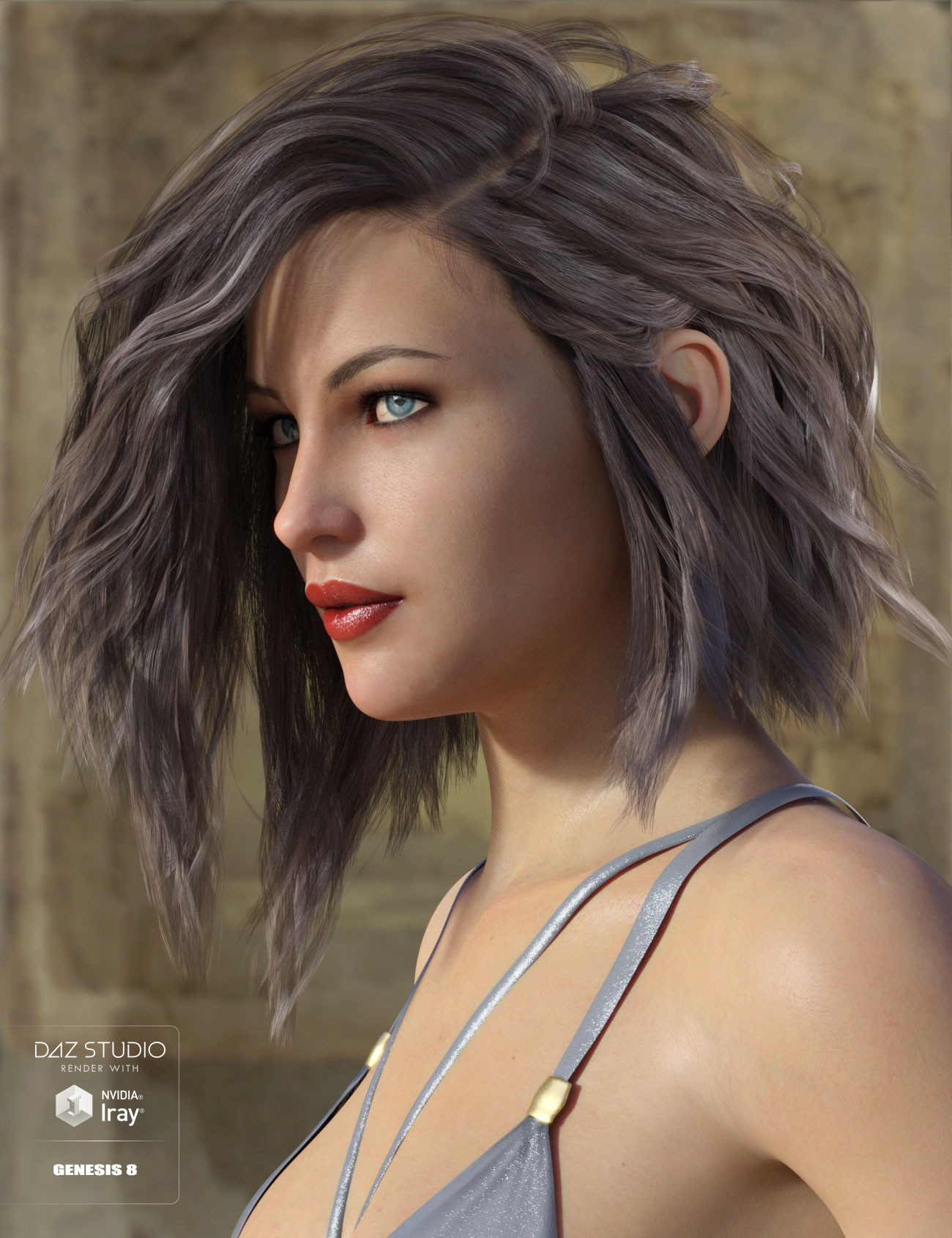 Voss Hair for Genesis 3 & 8 Female(s)