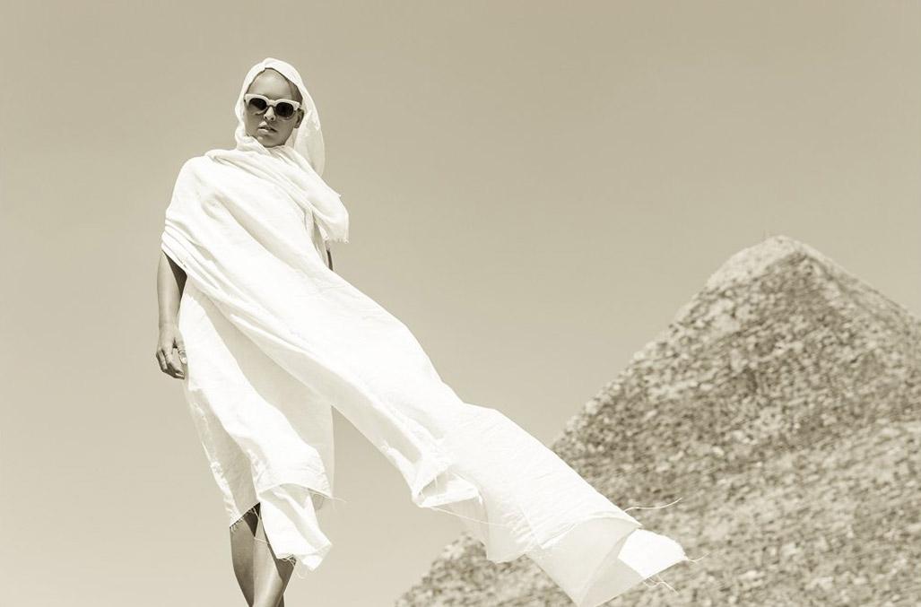 Marisa Papen nude by Jesse Walker - Enki EyeWear - Egypt 2017