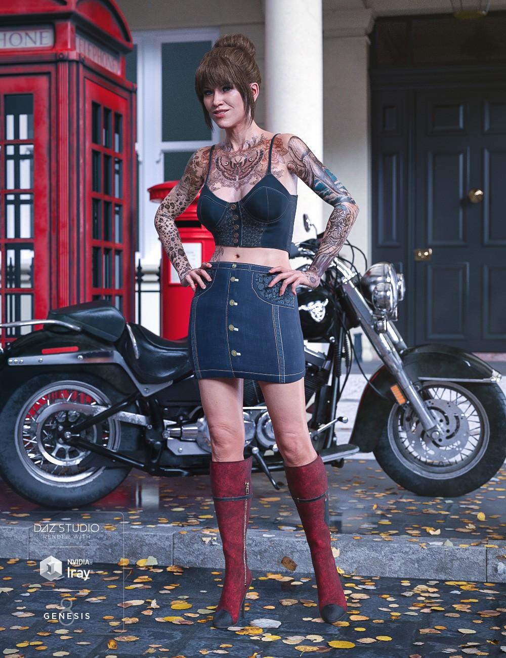 Sydney Denim Outfit for Genesis 8 Female(s)