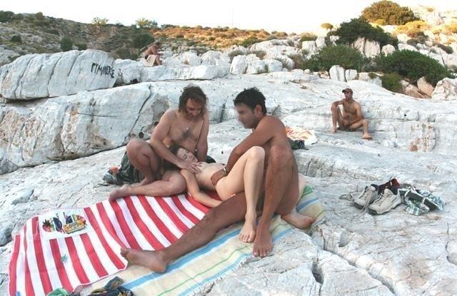 Amateur public threesome-7772
