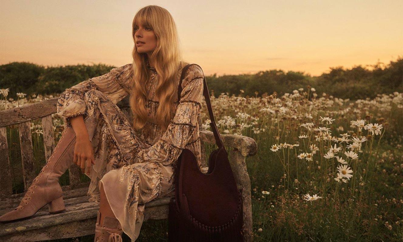 Джулиа Стегнер в одежде из модной коллекции Zimmermann, сезон осень-зима 2020-2021 / фото 10