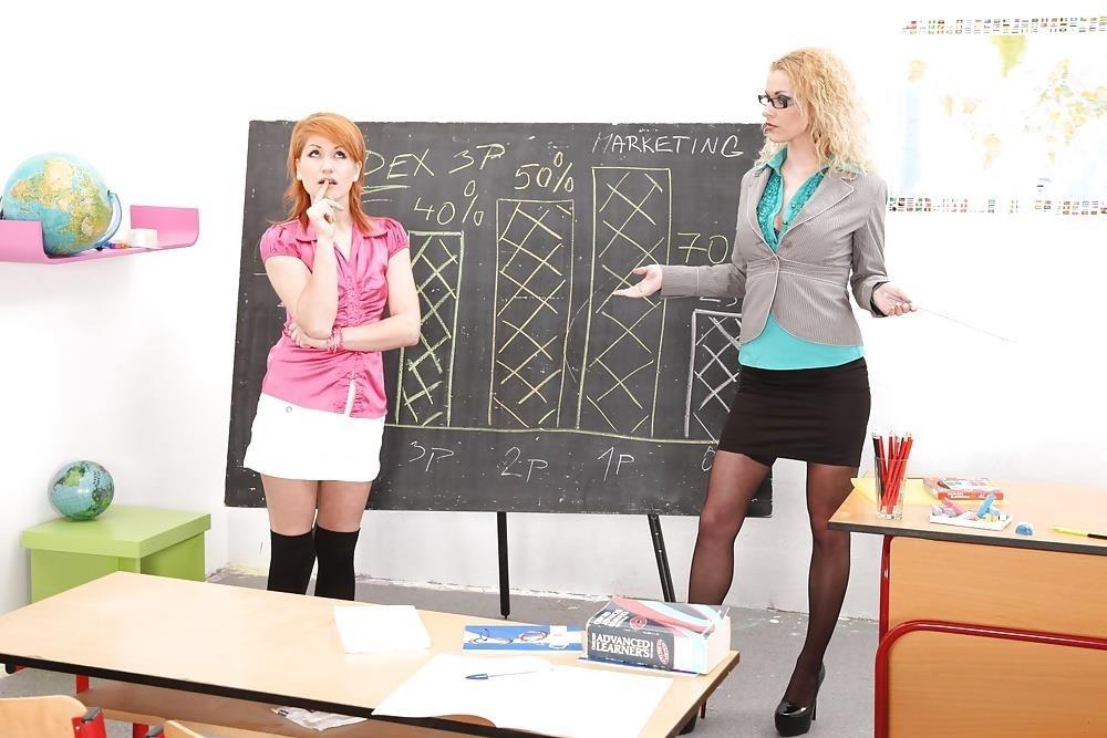 Lesbian teacher spanking student-3789