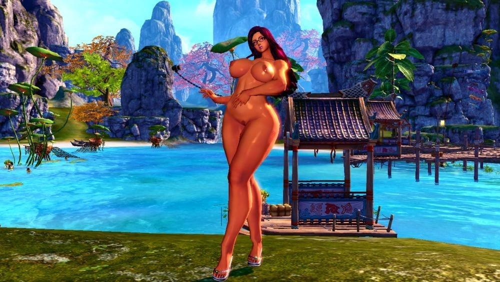 Light skin nude selfie-2483