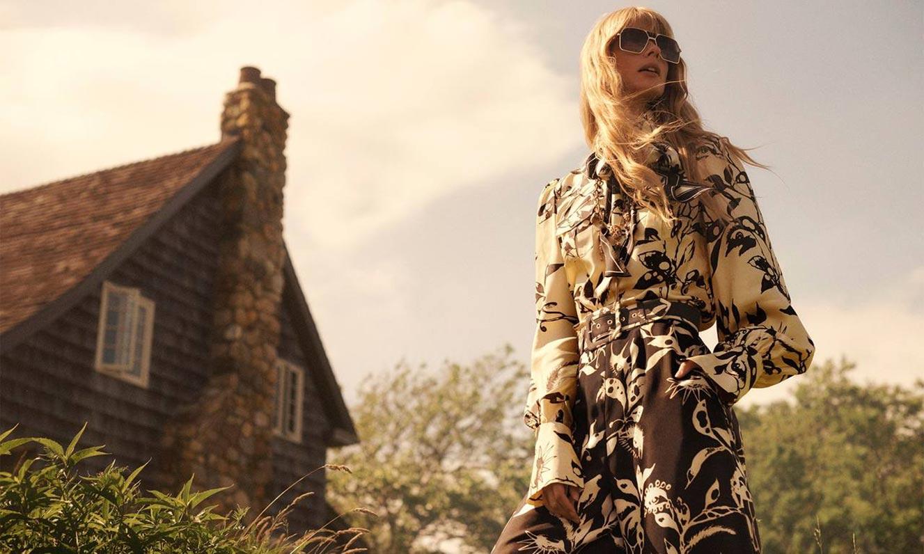 Джулиа Стегнер в одежде из модной коллекции Zimmermann, сезон осень-зима 2020-2021 / фото 04
