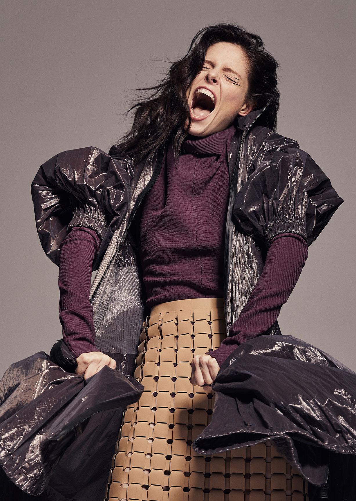 модное дефиле на крыше, модель Коко Роша / фото 14