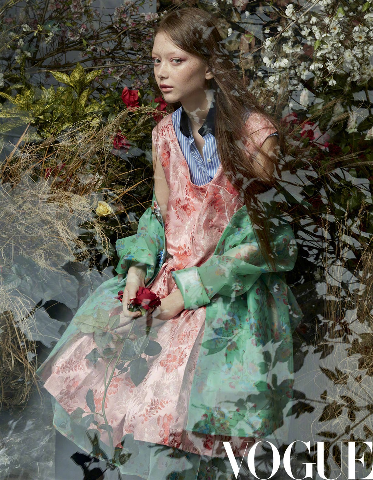 Sara Grace Wallerstedt by Solve Sundsbo - Vogue China may 2018