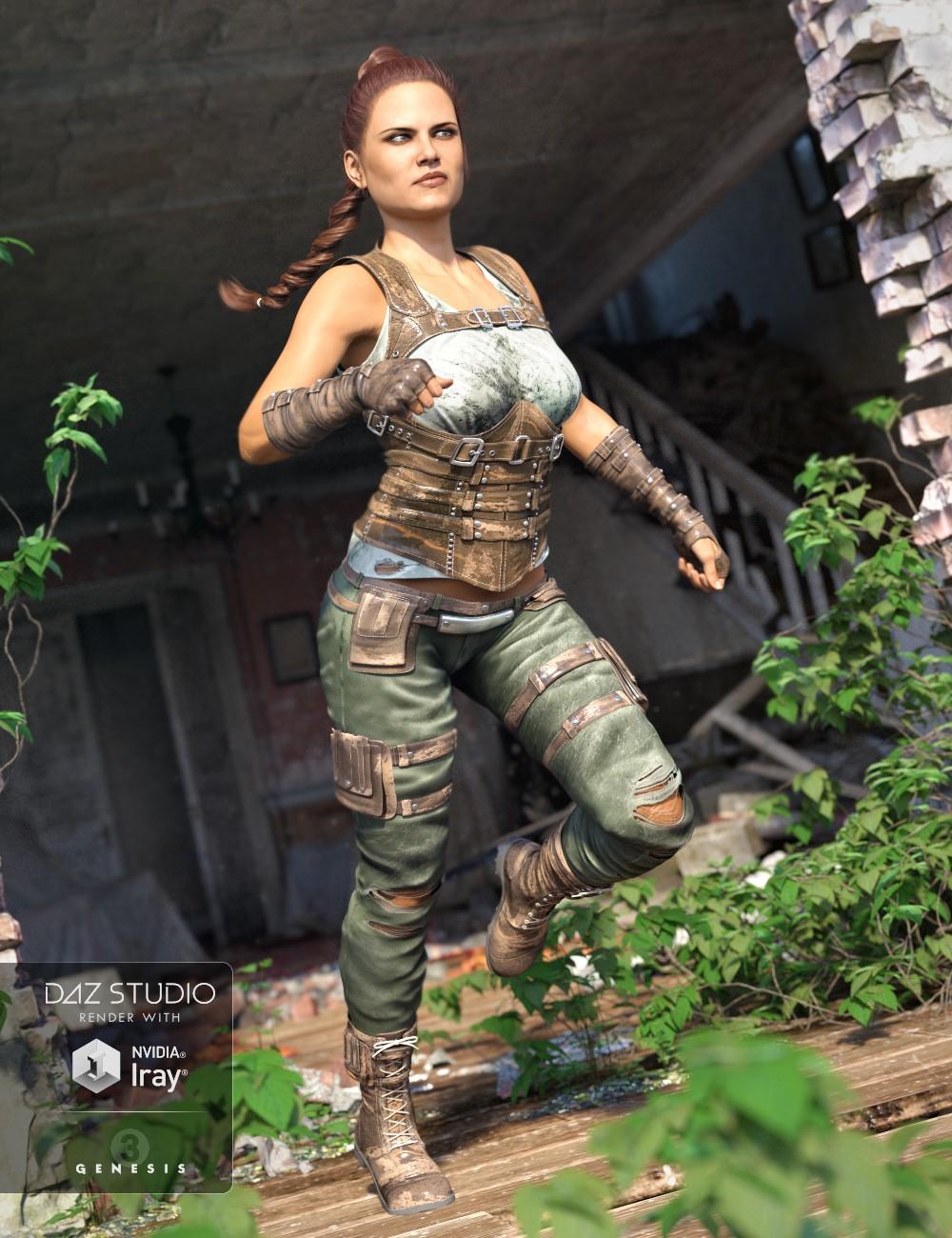 Relentless Mercenary Outfit for Genesis 3 Female(s)