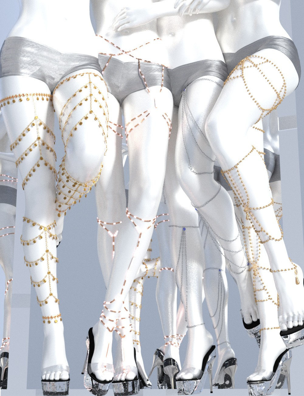 Leg Chains 2 for Genesis 3 and 8 Female(s)