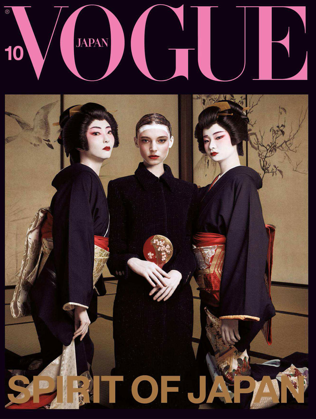Spirit of Japan / Ansley Gulielmi and Tsugumi Nakamura by Luigi Murenu and Iango Henzi / Vogue Japan october 2018