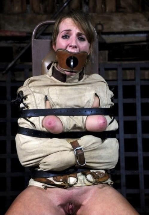 Girl straitjacket bondage-3524