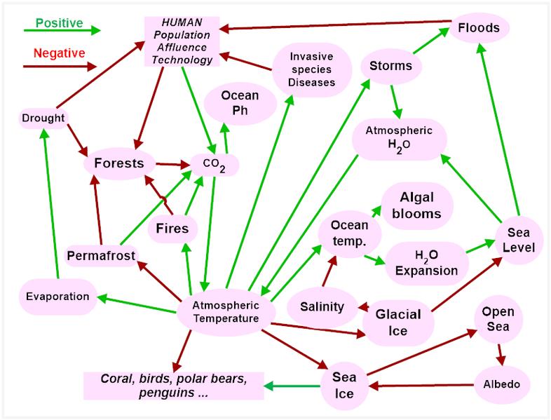 Dépendances climat / terre / biodiversité / homme
