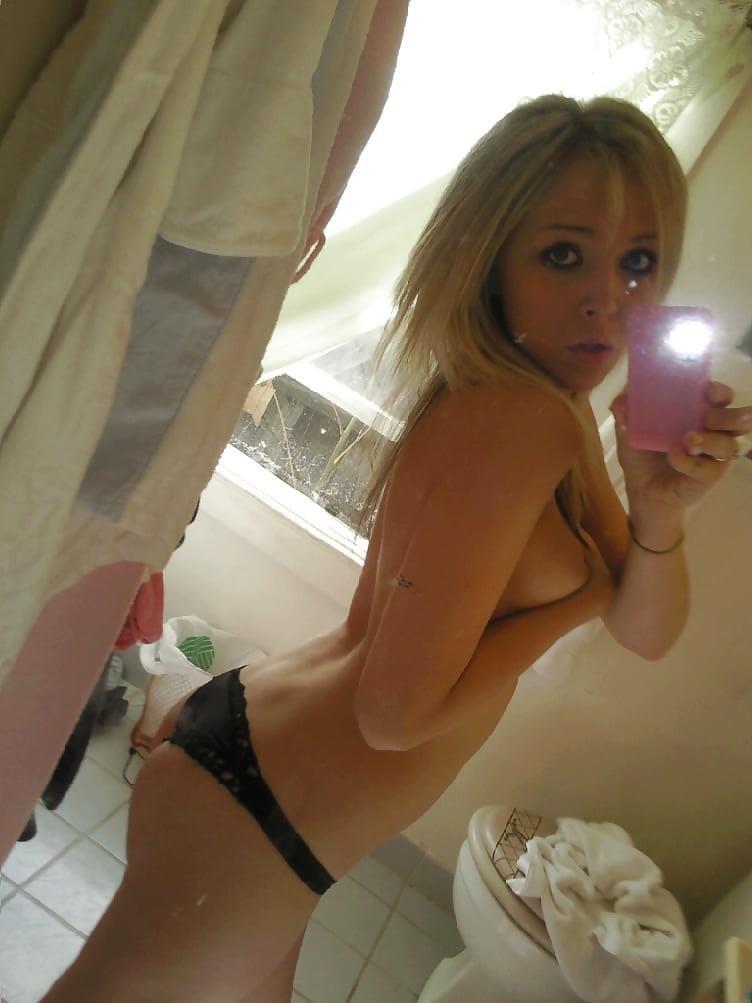 Teen blonde selfie nude-3650