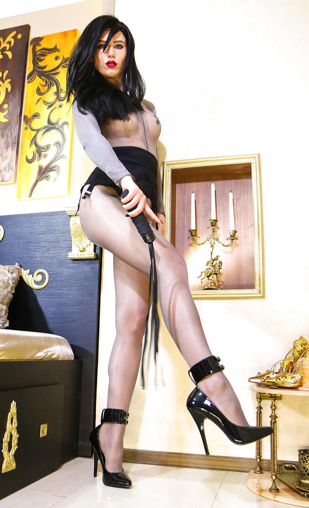 Foot nylon mistress-1501