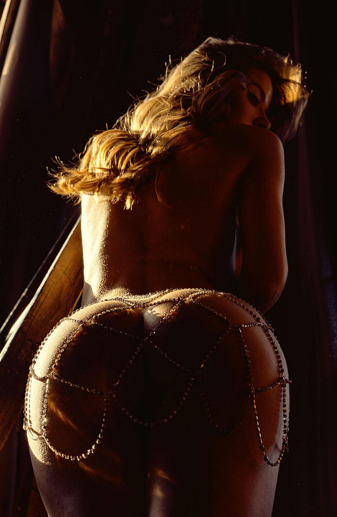 Сексуальная голая девушка в драгоценных цепях / фото 23