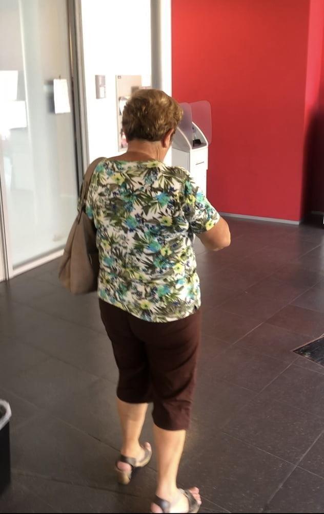 Granny feet in nylons-6326