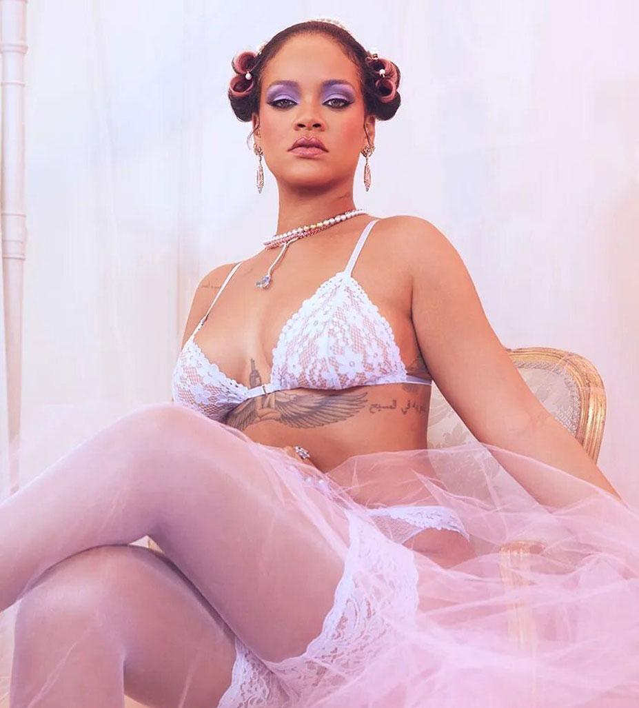 Рианна в нижнем белье торговой марки Savage x Fenty, модная коллекция - весна 2020 / фото 06