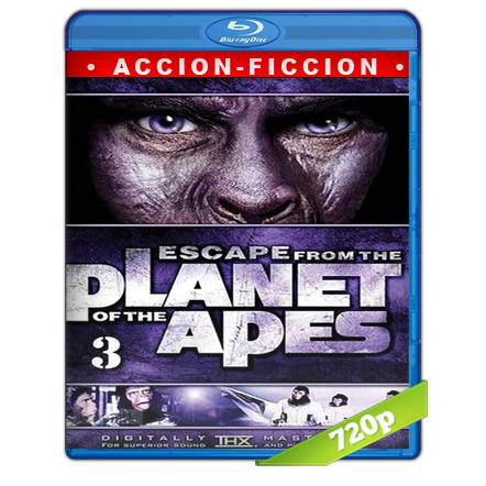 Escape Del Planeta De Los Simios (1971) BRRip 720p Audio Trial Latino-Castellano-Ingles 5.1