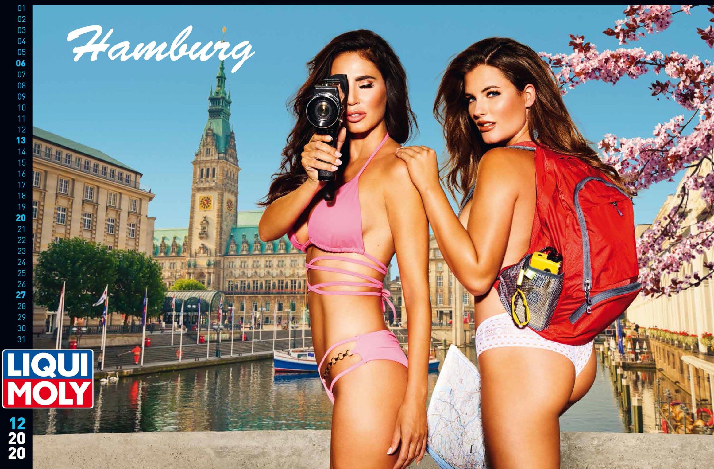 Фирменный календарь с девушками автоконцерна Liqui Moly на 2021 год / декабрь 2020