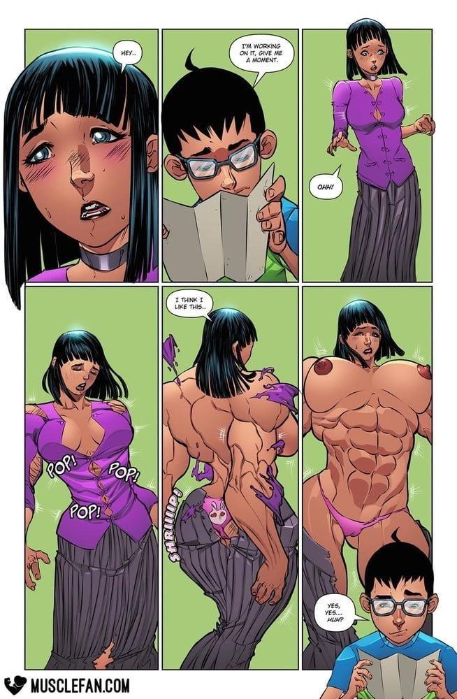 Female muscle big clit-6248