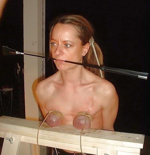 Breast bondage and torture-2771