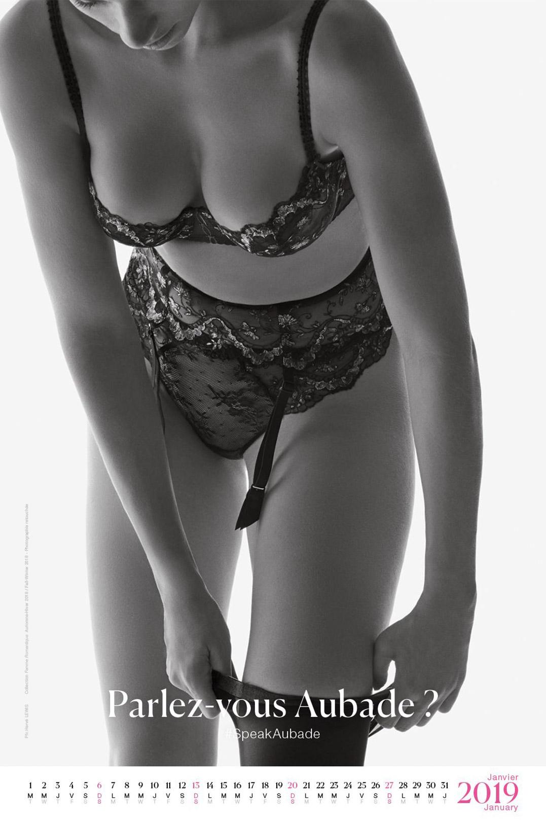 календарь сексуального нижнего белья Aubade 2019