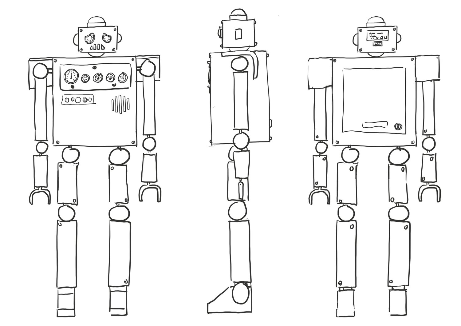 Robot Encounter – Character Design, Wireframe
