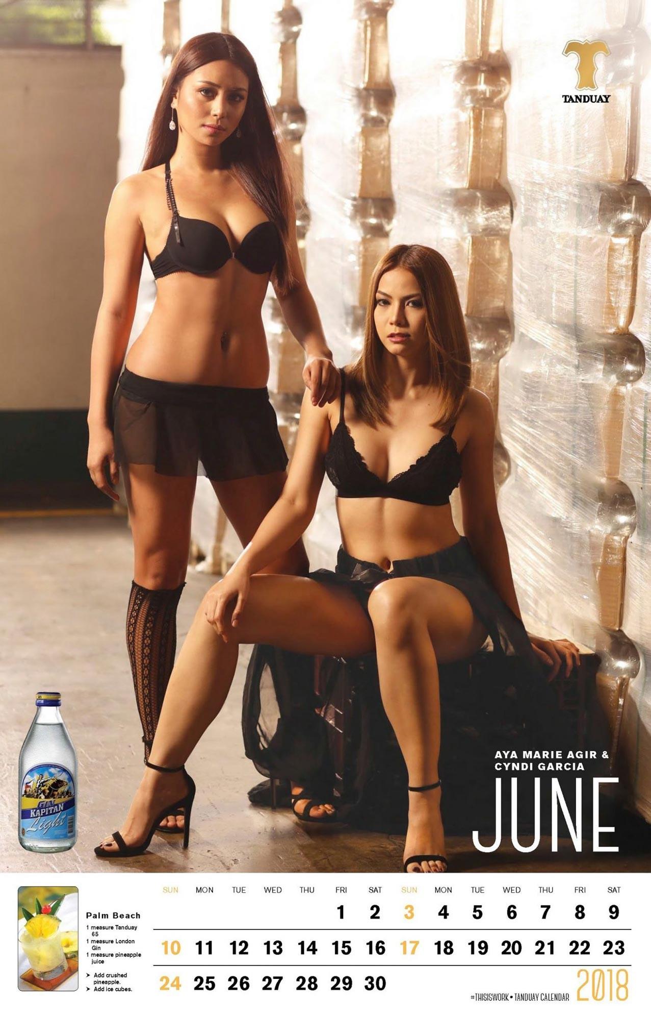 работящие девушки в календаре FHM Philippines and Tanduay 2018 calendar