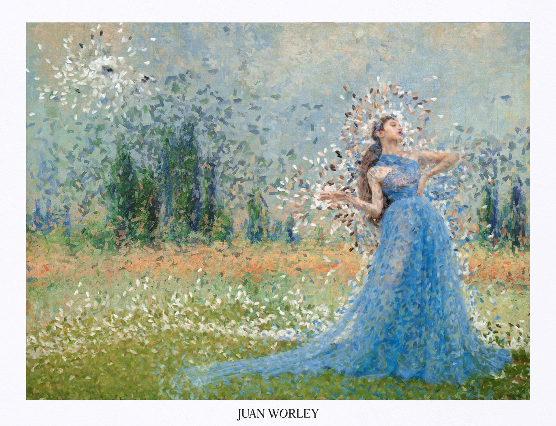 Рекламная кампания модной коллекции Juan Worley Cruise 2020 в стиле живописи Моне / фото 01