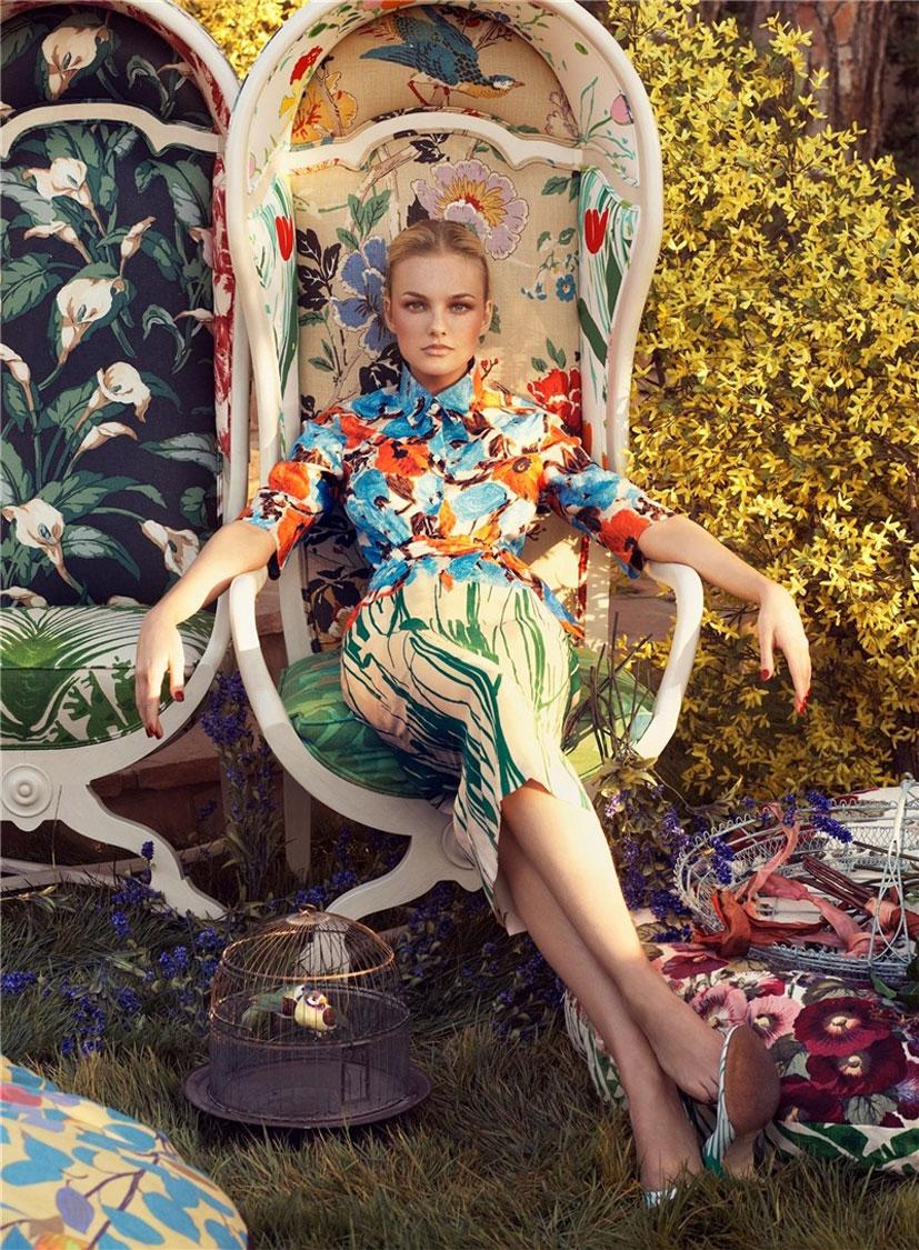 Весна от Vogue / фото Steven Meisel / модель Caroline Trentini