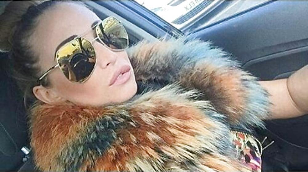 Jean jacket with brown fur-3642
