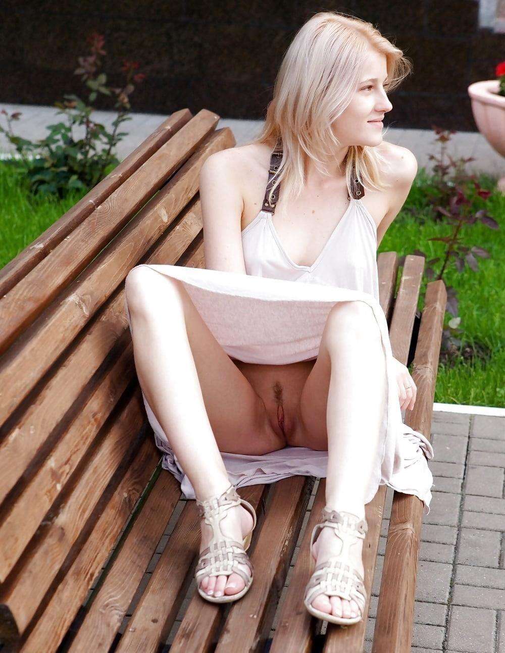 Public up skirt no panties-3308