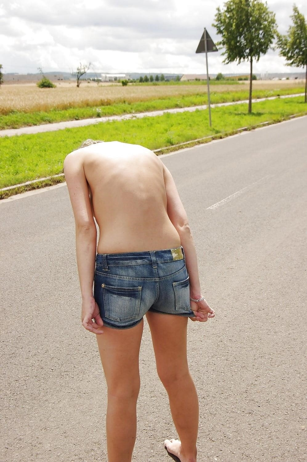 Naked girl with jeans-3259
