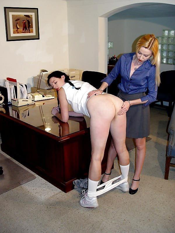 Ebony schoolgirl spanking-7826