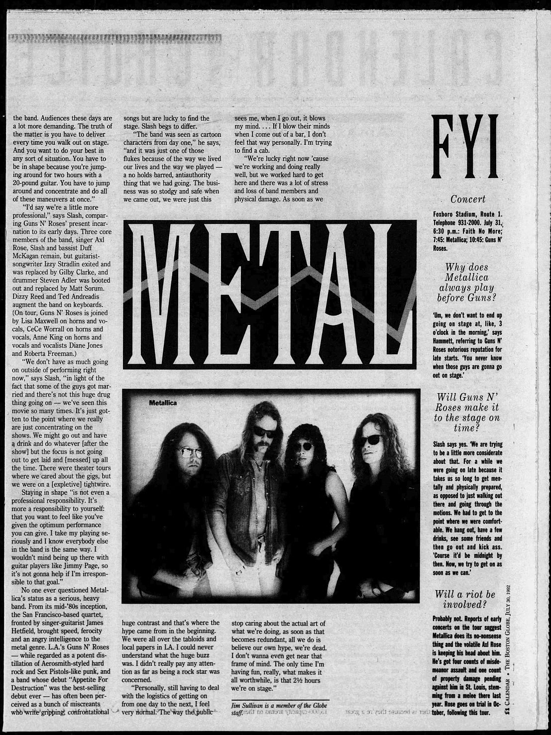 1992.07.30 - The Boston Globe - Testing Their Metal (Slash, Hammett) F6OXqVte_o