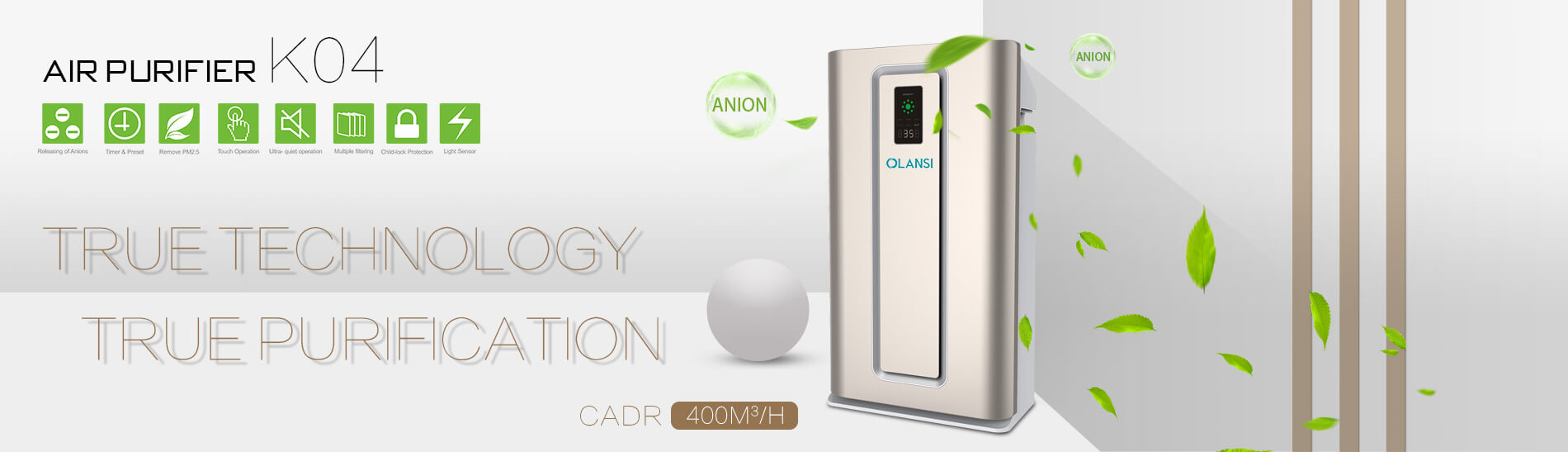 Olansi Healthcare Co., Ltd Introduces State-of-the-Art Negative ion Air Purifiers to Improve Indoor Air Quality For Worldwide People