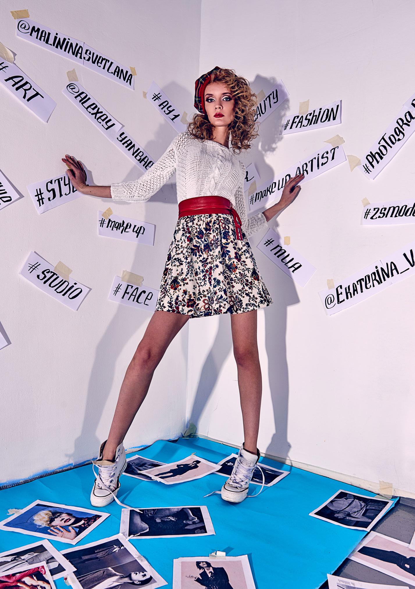 Екатерина Ваньшина и хэштеги в модной фотосессии Алексея Янбаева / фото 05