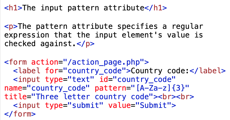 pattern attribute example