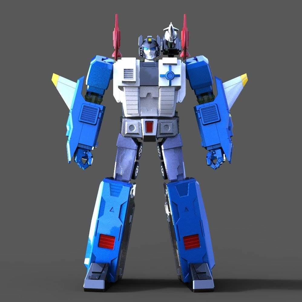 [KFC Toys] Produit Tiers - PC-14 Raijin + PC-15 Grand Raijin + P-16 Raiju - aka Ginrai (Powermaster Optimus) + Remorque de Ginrai + Godbomber = God Ginrai (TF Masterforce) Mr0nlQSN_o