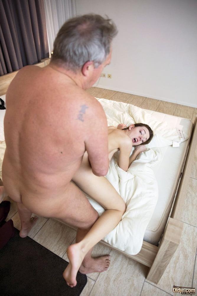 Boobs sucking old man-8243