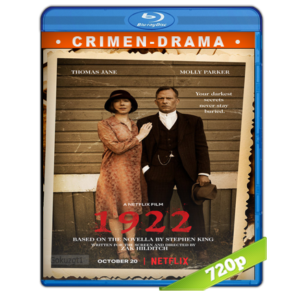 1922 (2017) BRRip 720p Audio Trial Latino-Castellano-Ingles 5.1