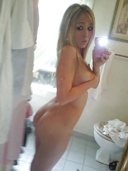 Teen blonde selfie nude-3797